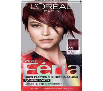 LOreal paris 41 Rich Mahogany new look Feria Multi-faceted shimmering color--8.22oz-France