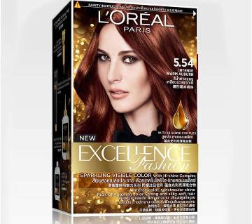 LOreal paris 5.54 Intense warm Auburn color- 8.22 Oz-France
