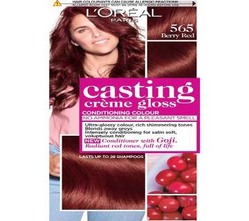 Original LOreal paris 565 Berry Red casting creme gloss conditioning colour-8.22oz-France