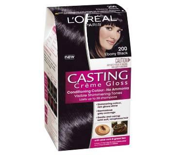 LOreal paris 200 Ebony Black casting creme gloss conditioning colour-8.22oz-France