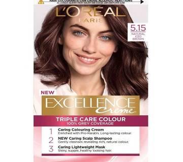 LOreal paris 5.15 natural iced brown excellence creme triple care colour- 8.22 Oz-France