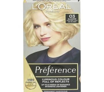 LOreal paris 03 Glasgow very very light ash blonde color-8.22 Oz-France