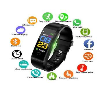 Smart Fitness Band Waterproof Smart Bracelet Watch Wristband 115 Plus Blood Pressure Monitoring Heart Rate Monitor