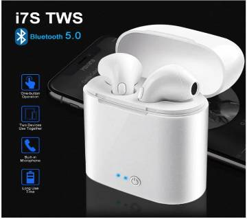 i7s TWS Mini Wireless Bluetooth Earphone Stereo Earbud Headset With air Charging Box