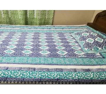 Cotton Bed Sheet With Two Pillow Cover