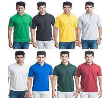 MULTICOLOR Casual Half Sleeve Polo t-Shirt For Men Combo Pack of 8