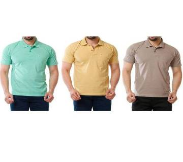Polo T shirt 100% cotton combo offer 3 pcs