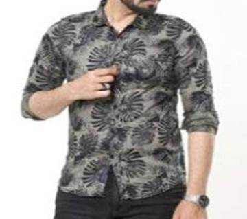 Multicolor Long Sleeve wash denim Printed Casual Shirt for MenS. 2020