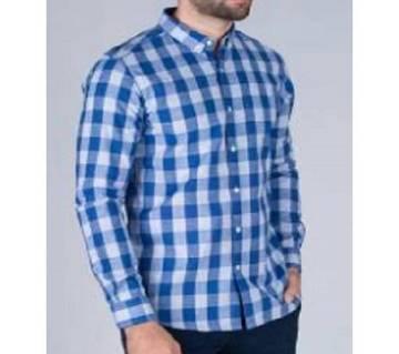 Multicolor Cotton Long Sleeve check Shirt for Men