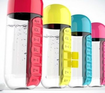 PILL and VITAMIN ORGANIZER WATER BOTTLE