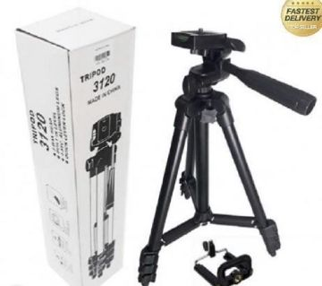 Tripod 330A Professional Camera Tripod With Mobile Holder  Black and Silver  DNM