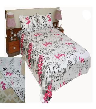 Double size cotton bedsheet set -white