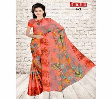 indian sharee sargams- soft sartin (8/200) fabrics  with blouse piece
