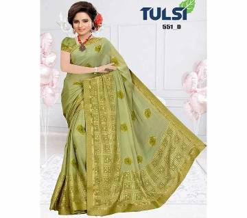 Indian sharee Tulsi - foil weightless fabrics with blouse piece