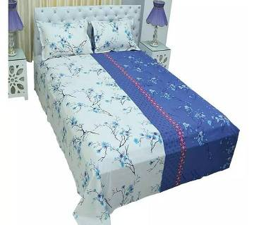 king size double bed Sheets bed Sheets 129 -white blue