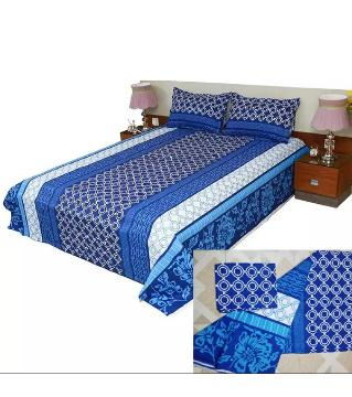 king size double bed Sheets bed Sheets 03-blue