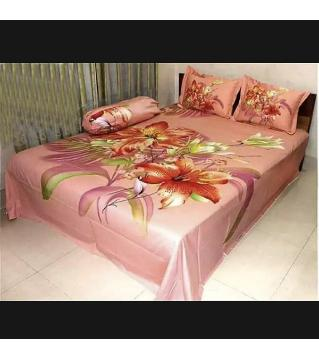 king size bed sheet and cover  -pink