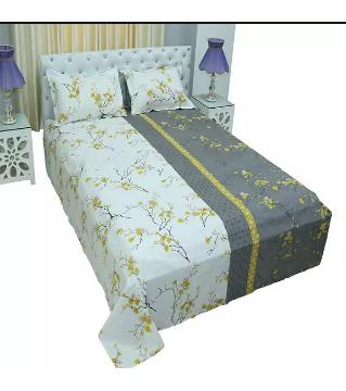 king size bedsheet and cover -gray