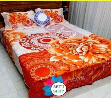 king size bedsheet and cover  -magenta
