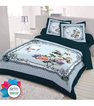 king size bedsheet and cover   -black and white