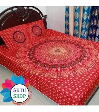 king size bedsheet and cover  -red