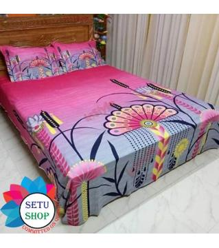 king size bedsheet and cover  -pink