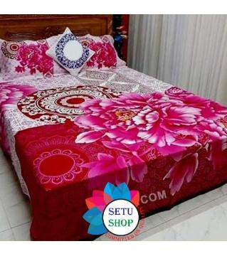 king size bedsheet and cover-magenta