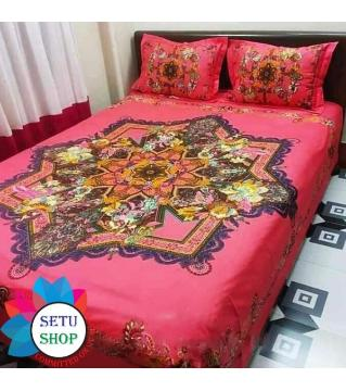king size bedsheet and cover pink color -magenta