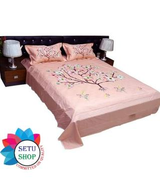 king size bedsheet and cover  -ghee color