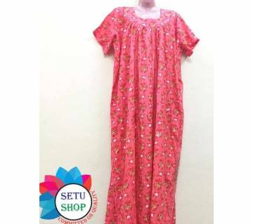 Maxi Nighty dress for ladies -red