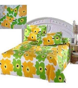 King Size Cotton Bedsheet Set - 4 pieces