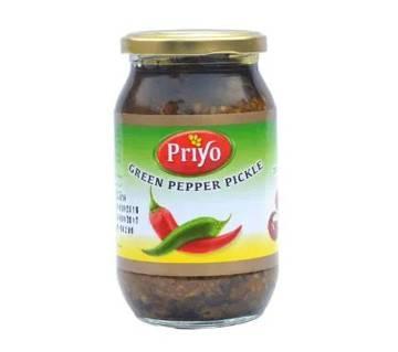 Priyo Green peper pickles 400gm
