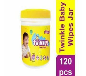 Twinkle Baby Wipes Jar 120pcs