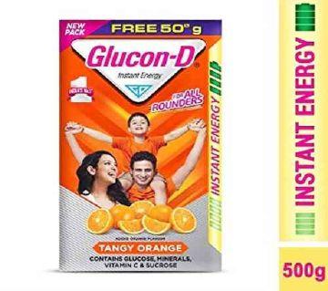 Glaxose D Orange Flavoured Glucose Powder Bib (250g)