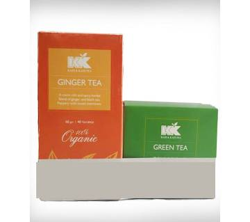 KK Ginger Tea Box 40 Sachets (60 gm)-Buy 1 Get 1 Kazi & Kazi Green Tea Box