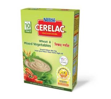 Nestle Cerelac Wheat and Mixed Vegetables Bib 400g (0x45c2c)