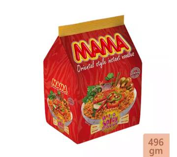 Mama Instant Noodles Hot & Spicy Flavour - 4 Packs