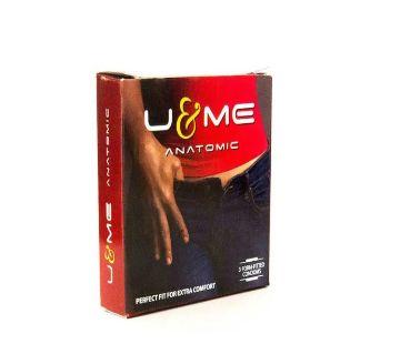 K2 U & Me Anatomic Premium Condom 3 Piece