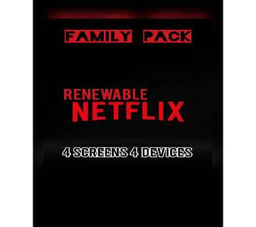 Netflix Renewable 4 Screens 4 Devices (Family Pack) - PREMIUM