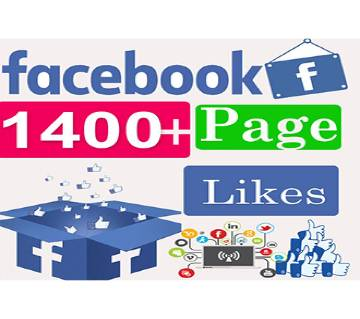 Facebook Page Like 1,400+ | Facebook Boost/Promotion
