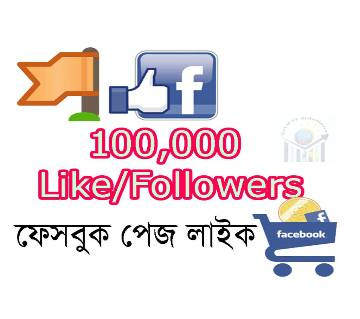 100,000 (100k) Facebook Page Like/followers Promote Page