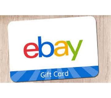 USA eBay gift card 5 Dollar