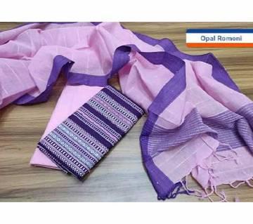 Unstitched Tat Original Cotton Multi Color Deshi Shalwar Kameez-4
