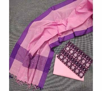 Unstitched Tat Original Cotton Multi Color Deshi Shalwar Kameez-17
