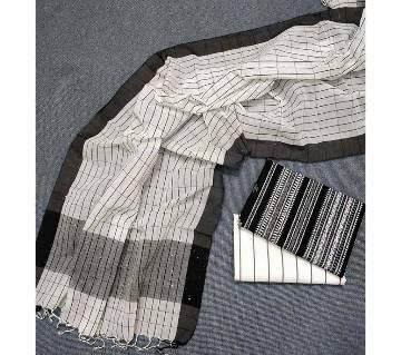 Unstitched Tat Original Cotton Multi Color Deshi Shalwar Kameez-18.