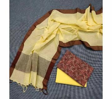 Unstitched Tat Original Cotton Multi Color Deshi Shalwar Kameez-22