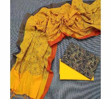 Unstitched Tat Original Cotton Multi Color Deshi Shalwar Kameez-24