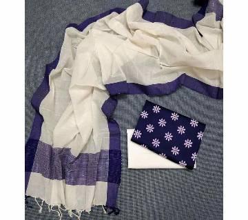 Unstitched Tat Original Cotton Multi Color Deshi Shalwar Kameez-25