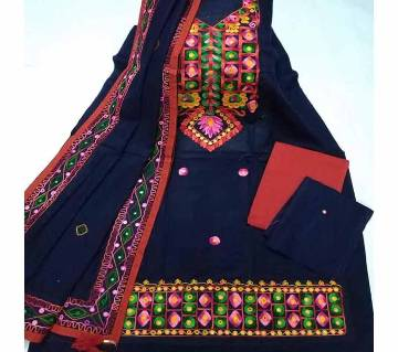 Unstitched Ary Hand work with Ambrodary Shalwar Kameez for Women-4