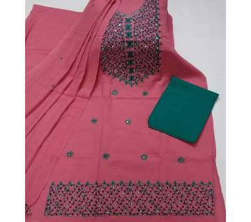 Unstitched Ary Hand work with Ambrodary Shalwar Kameez for Women-19